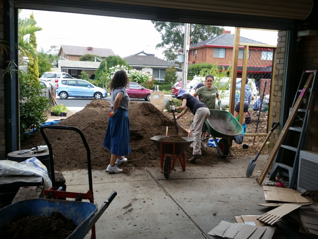 Props to The Green Centre for generously donating the soil for the blitz!