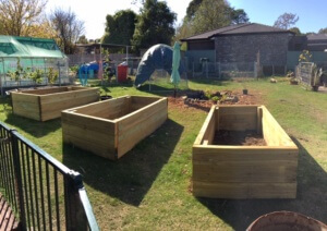 Some recently installed garden beds ready for the wicking bed installations1