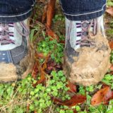 Muddy feet in a wet garden... yup, it's that time of year!