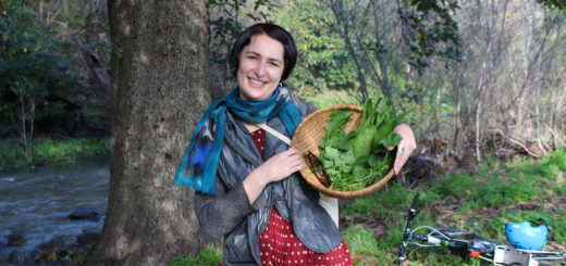 Permablitz Collective member, forager and part-timer model [Photo credit: Maude Farrugia]